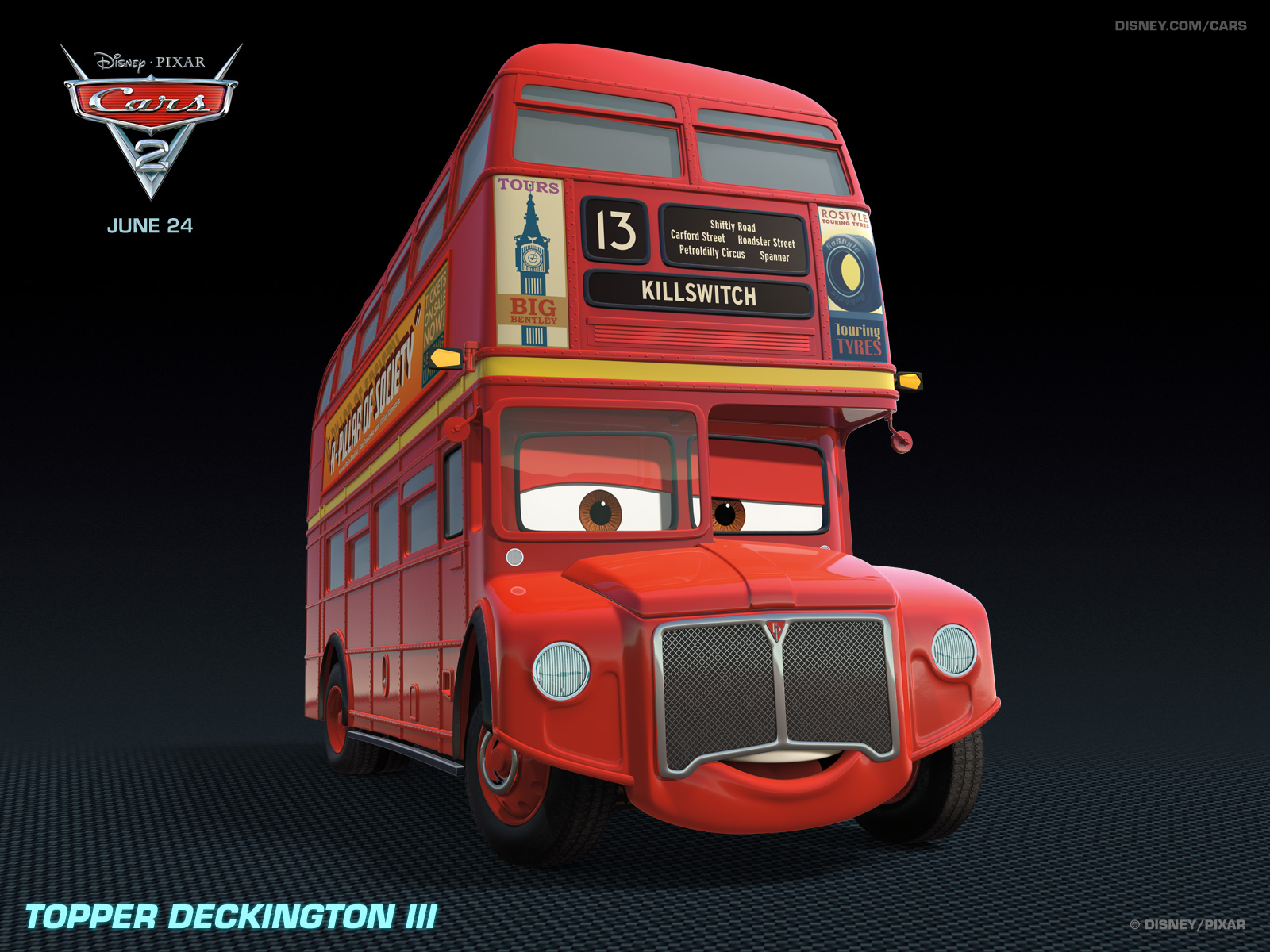 Pixar Cars 2 topper_1600x1200
